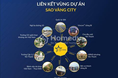 Mở  bán dự án Sao Vàng City đợt 1, đất nền Uông Bí, vào thứ 7, giá chỉ 9 triệu/m2