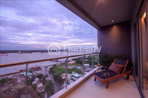 Căn hộ cao cấp, view sông Sài Gòn, full nội thất, 2 phòng ngủ, sàn gỗ cao cấp