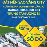 Ra mắt siêu phẩm 137 lô đất nền dự án Sao Vàng City, thành phố Uông Bí, Quảng Ninh