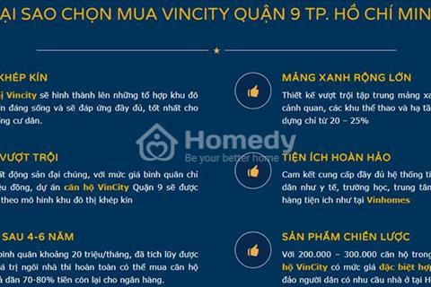 VinCity Quận 9 - 140 triệu sở hữu căn hộ - trả góp 5 triệu/tháng
