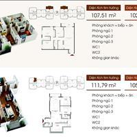 Chính chủ bán gấp căn hộ 3 phòng ngủ, Five Star Kim Giang, 102,6m2, giá 25 triệu/m2