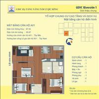 Căn 3 phòng ngủ A01 chênh thấp nhất thị trường chung cư Udic Riverside 122 Vĩnh Tuy