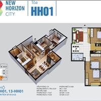 Bán căn hộ 3 phòng ngủ tại tòa HH1 chung cư New Horizon City 87 Lĩnh Nam, tặng luôn 100 triệu