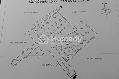 Bán đất chính chủ đường Lê Văn Chí sổ hồng riêng, gần công ty và bệnh viện Việt Thắng