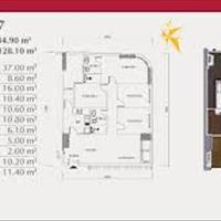 Cần bán gấp căn hộ 4 phòng ngủ hướng Đông Nam tòa P1 căn hộ số 07, giá gốc hợp đồng 3,774 tỷ