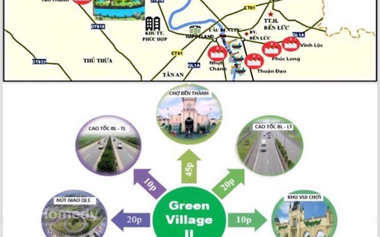 Đất nền biệt thự ven sông Green Village 2 diện tích 500m2 giá chỉ 750 trệu/nền, nhận quà liền tay