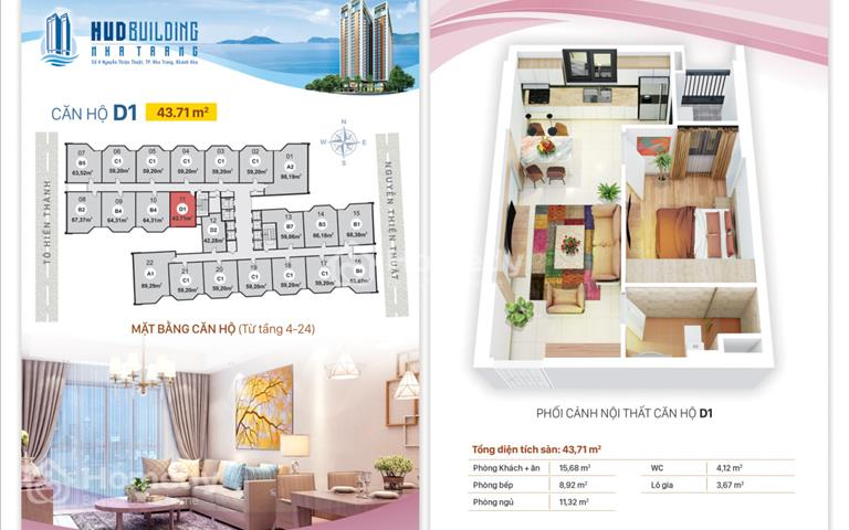 Sở hữu căn hộ HUD Building Nha Trang, chỉ với 1,6 tỷ