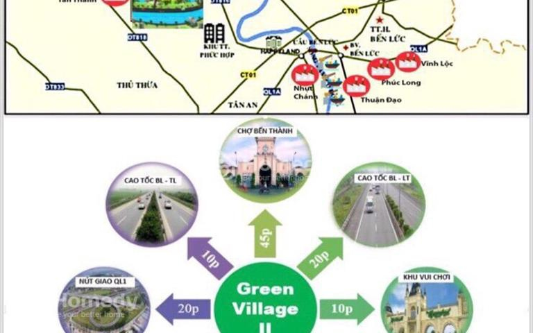 Đất nền biệt thự Green Village 2 diện tích 500m2 giá cực sốc chỉ từ 1,5 triệu/m2