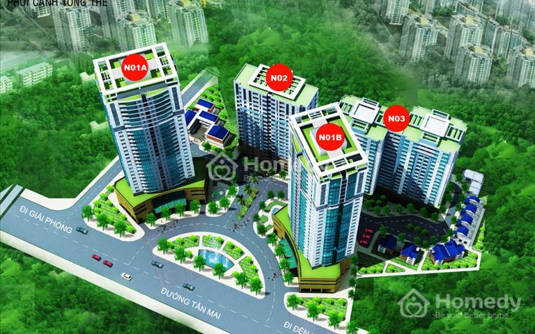 Bán căn 2 phòng ngủ - vệ sinh tại dự án K35 Tân Mai, giá chỉ 24 triệu/m2 view Hồ Đền Lừ