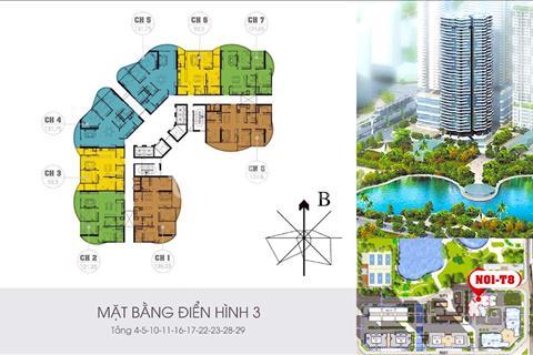 Bán gấp căn số 06 tòa N01T8 view công viên, hồ điều hòa, 2 phòng ngủ 2wc thông thủy 93,3m2, 3,17 tỷ