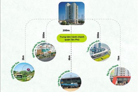 Căn hộ mặt tiền Thoại Ngọc Hầu, quận Tân Phú, giá gốc đợt 1 ưu đãi từ chủ đầu tư