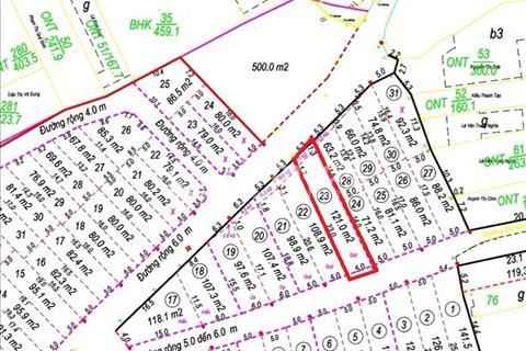 Bán đất khu Vĩnh Trung, lô số 23, diện tích 121m2