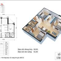 Bán gấp căn hộ 3 phòng ngủ, Eco Green Nguyễn Xiển, 86m2, giá 2,6 tỷ, full nội thất