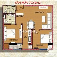 Cho thuê căn hộ chung cư số 7 Trần Phú, diện tích 72m2, giá 6 triệu/tháng