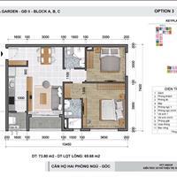 Cần bán gấp căn hộ 73m2 2 phòng ngủ, căn góc thoáng mát, nhận nhà ở ngay