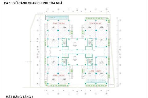 Suất ngoại giao 350m2 sàn thương mại CT36 Xuân La, Tây Hồ