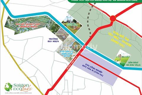 Cơ hội đầu tư sinh lời cao tại khu đô thị sinh thái Saigon Eco Lake liền kề Safira Vingroup