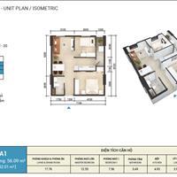 Căn hộ 2 phòng ngủ 56,46m2 dự án Imperial Place Bình Tân