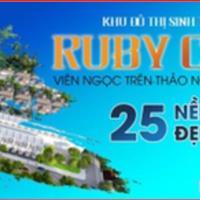 Cần chốt nhanh lô đất nền biệt thự, giá tốt từ chủ đầu tư chỉ 6tr/m2, Ruby City, hạ tầng hoàn chỉnh