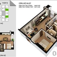 Bán căn hộ diện tích 60.75m2, giá chỉ 1,195 tỷ