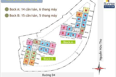 Cần bán căn hộ Sunrise Cityview giá rẻ nhất quận 7, 2,8 tỷ/76m2, bao hết