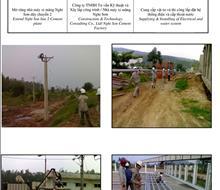 Dự án cấp điện và nước nhà máy xi măng Nghi Sơn