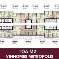 Chính chủ cần bán chung cư Vinhomes Metropolis, căn 1611A, 69.04m2, giá 75,32 triệu/m2