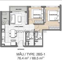 Căn hộ Palm Heights Quận 2 cần bán có diện tích 77m2 gồm 2 phòng ngủ bán giá tốt