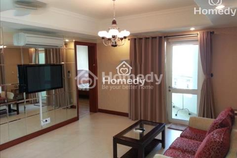 Cho thuê căn hộ chung cư Tản Đà 87m2, 2 phòng ngủ, nội thất, giá 14 triệu/tháng