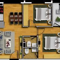 Bán căn hộ 2 phòng ngủ trung tâm huyện Thanh Trì, Hà Nội, giá chỉ từ 18 triệu/m2