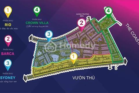 Đất nền biệt thự 216m2 sát biển Crown Vila FLC Quy Nhơn resort 5 sao chiết khấu 8% và 50 triệu