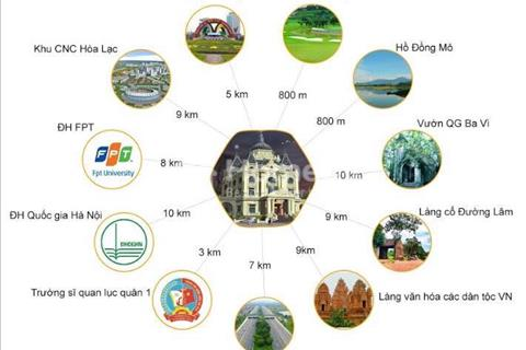 Bán liền kề và biệt thự khu đô thị Thiên Mã, Xã Cổ Đông, Sơn Tây, Hà Nội, hạ tầng, pháp lý đầy đủ