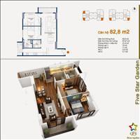 Bán căn 06, 2 phòng ngủ, 85m2 tòa G2, chung cư Five Star Kim Giang