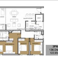 Căn hộ chung cư Vista Verde bán tại tháp Orchid tầng cao 3 phòng ngủ 136m2