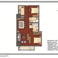 Căn hộ cao cấp Royal City căn 12, tầng 25 tòa R2, diện tích 88.3m2, full nội thất, giá 3.8 tỷ
