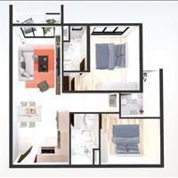 Căn 2 phòng ngủ, 2 toilet, 71m2, khu Emerald, chênh lệch thấp, giá tốt nhất so với căn chung