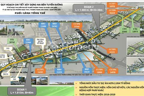 Bán dự án Khai Sơn City, Long Biên, Hà Nội, vị trí đất vàng giá chỉ từ 7 - 11 tỷ
