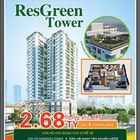 Chỉ từ 2,68 tỷ có luôn căn hộ 3 phòng ngủ tại Res Green Tower mặt tiền Thoại Ngọc Hầu