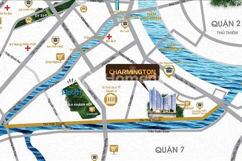 Mở bán căn hộ Charmington Iris, block đẹp, view 3 mặt sông giá 50 triệu/m2, chiết khấu 3%