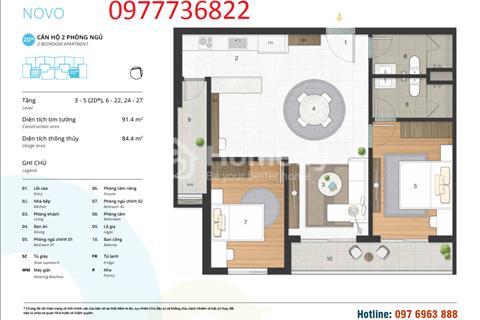 Bán căn hộ đẹp nhất tòa Novo Kosmo Tây Hồ 2 phòng ngủ 85m2 đông nam