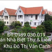 Cần bán biệt thự, liền kề 100-300m2 khu đô thị Vân Canh, Hà Nội
