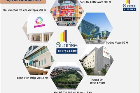 Bán căn hộ Sunrise Cityview, view giá rẻ nhất quận 7, 3,5 tỷ/98m2, bao hết