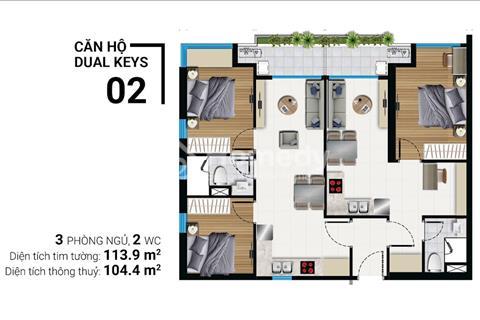 Bán căn hộ tiện ích Dual Keys 114m2 chỉ cần thanh toán 1,1 tỷ - River Panorama