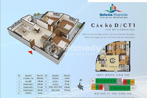 Chính chủ bán căn hộ Gelexia Riverside Tam Trinh căn 2611, giá bán 19 triệu/m2 bao sang tên
