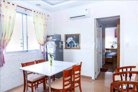 Cho thuê căn hộ gia đình 1 phòng ngủ, phòng bếp rộng, diện tích sử dụng 45m2 đầy đủ nội thất Quận 1