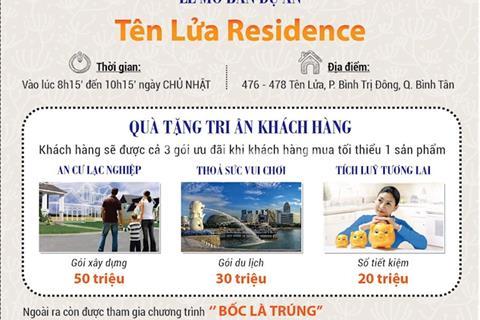 Phát mãi 9 nền đất Tên Lửa Residence Bình Tân 5 x 12m 60m2, giá 540 triệu