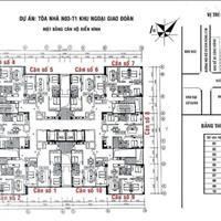 Bán căn 08 tòa N03 - T1, chung cư Ngoại Giao Đoàn, diện tích 96,55m2