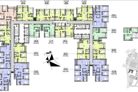 Bán lỗ chung cư Vinhomes Gardenia, A1-1611 diện tích 110m2 và A1-1801 diện tích 76m2, giá 32tr/m2