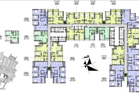 Chính chủ không phải môi giới bán căn hộ Vinhomes Gardenia, 52m2 - 72,5m2 - 106m2, 32-33 triệu/m2
