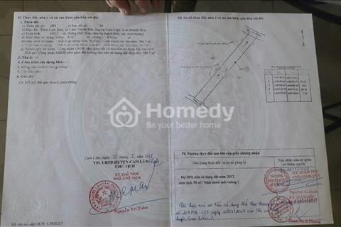 Chính chủ cần bán đất mặt tiền quốc lộ 1A Cam Thành Bắc, Cam Lâm, 8x80m